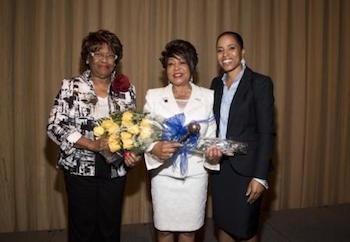 Patricia Dowtin (center) has been installed as PGCAR president. (Courtesy of PGCAR)