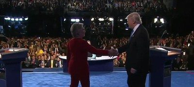 Photo of Clinton Rocks Trump in First Debate