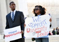 Photo of Affirmative Action Supporters Rally at Supreme Court