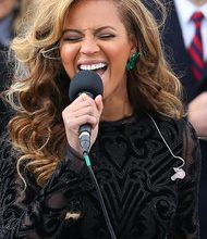 Photo of Beyonce Lip-Synced National Anthem at Obama's Inauguration