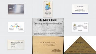 Photo of Here Are the Business Cards of Famous People