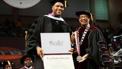 Photo of Texas Southern Alum Strahan Receives Honorary Degree
