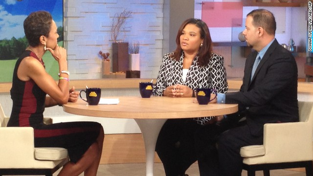 """Juror B29 from the George Zimmerman trial, center, appears on """"Good Morning America"""" on Thursday"""