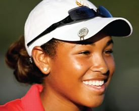 Photo of Youngest African American Female Professional Golfer at 18