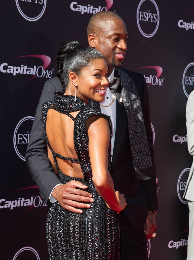 Dwyane Wade and current squeeze Gabrielle Union at the ESPY last week in Los Angeles (Splash News)