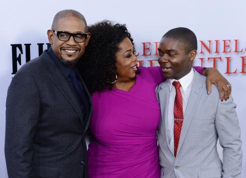 "Cast members Forest Whitaker, Oprah Winfrey and David Oyelowo (L-R) attend the premiere of Lee Daniels' motion picture biographical drama ""The Butler"" at Regal Cinemas at L.A. Live Stadium 14 in Los Angeles on August 12, 2013. ""The Butler"" tells the story of an African-American's eyewitness accounts of notable events of the 20th century during his tenure as a White House butler. UPI/Jim Ruymen"