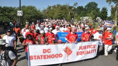 Photo of D.C. Residents Press for Statehood at Pre-March Rally