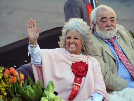 Tournament of Roses Grand Marshal Paula Deen (L) and her husband Michael Groover ride down Colorado Boulevard during the 122nd Rose Parade in Pasadena, California on January 1, 2011. UPI/Jim Ruymen