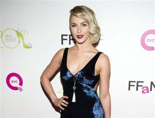 "This Oct. 1, 2013 file photo shows actress Julianne Hough at the 20th Annual ""FFANY Shoes on Sale"" Gala presented by QVC and FFANY in New York. Hough apologized on Twitter amid criticism for darkening her skin for a costume as Crazy Eyes from ""Orange is the New Black"" at a Hollywood bash. (Photo by Charles Sykes/Invision/AP, File)"