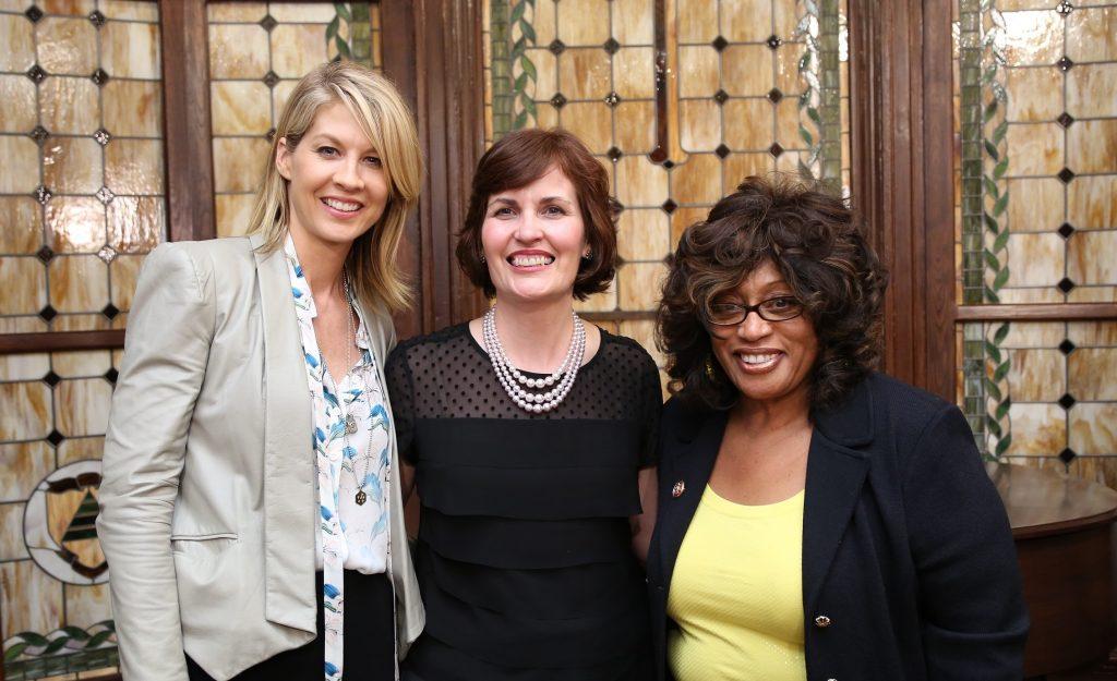Actress and humanitarian Jenna Elfman, National Affairs Office Executive Director Beth Akiyama, Congresswoman Corrine Brown