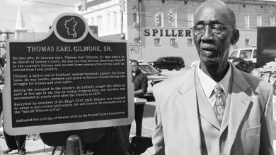 Photo of Courthouse Square Dedication to Former Sheriff Thomas E. Gilmore Held This Past Saturday