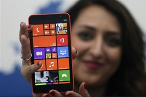 Model with Lumia 1320
