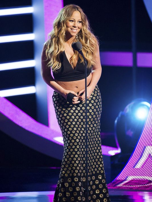 Mariah Carey appears on stage at BET Networks' Black Girls Rock! on Oct. 26, 2013 in Newark, N.J. (Photo: Charles Sykes, Invision/AP