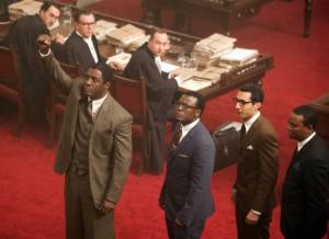 Idris Elba stars as Nelson Mandela in a courtroom scene in the bio-film Mandela: Long Walk to Freedom.