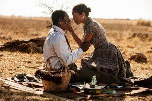 Idris Elba and Naomie Harris play Nelson and Winnie Mandela in the bio-film Mandela: Long Walk to Freedom.