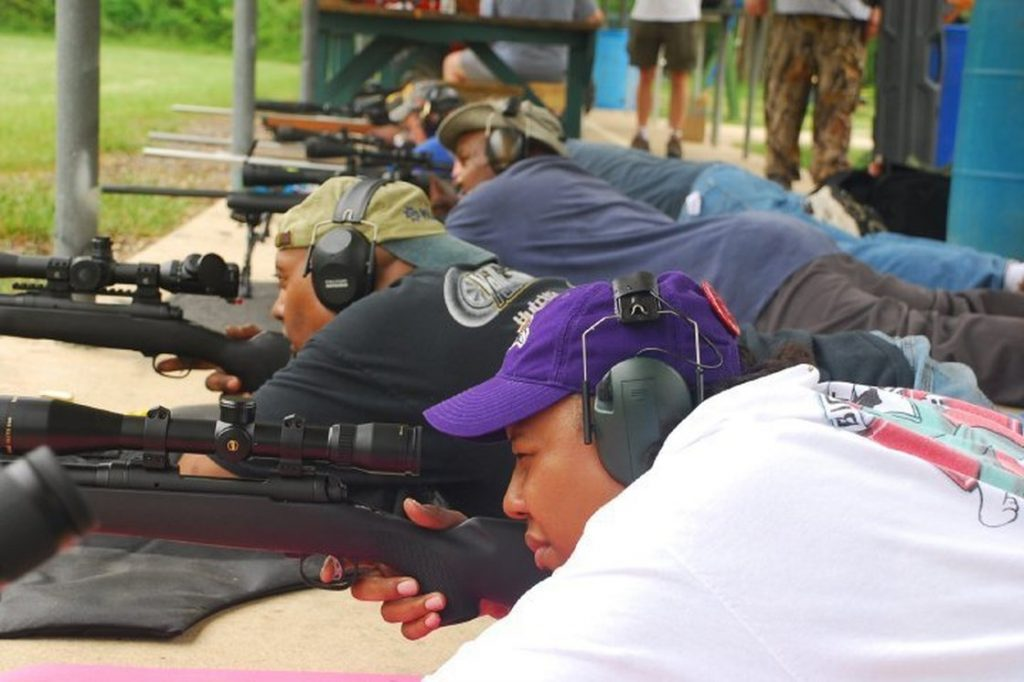 The Maryland Tenth Cavalry Gun Club, based in Marriottsville, Md., focuses as much on discipline and black history as it does on shooting. (Courtesy of the Maryland Tenth Cavalry Gun Club)