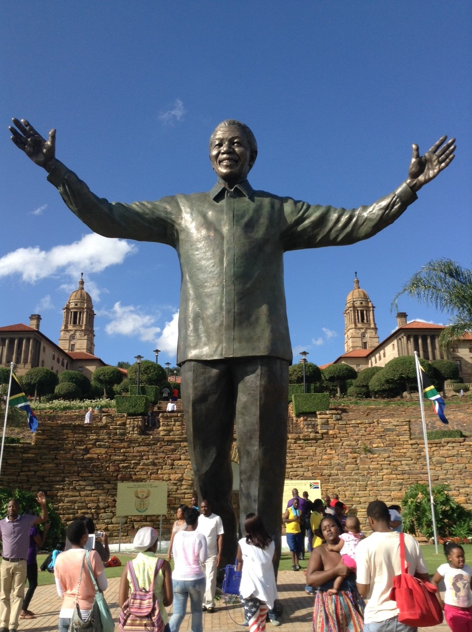 Mandela's 24-foot statue in Pretoria (NNPA Photo by George E. Curry)
