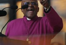 Photo of Archbishop Desmond Tutu in South Africa Hospital for Two Weeks