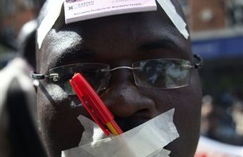 Photo of Kenya Journalists Protest Media Bill