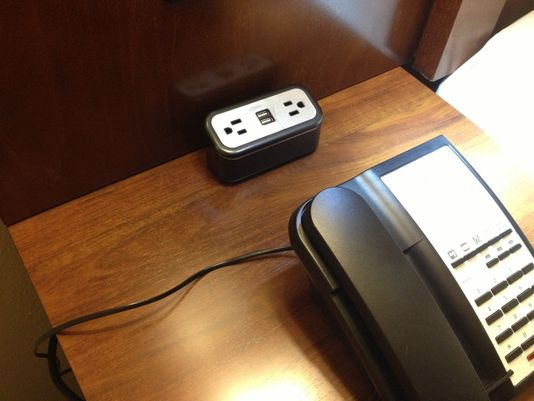 Comfort Inns and Comfort Suites have recharge stations with traditional plugs and USB ports at every desk. (Photo: Choice Hotels International)