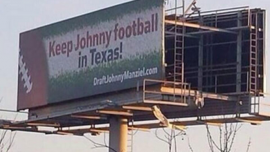 Photo of LOOK: Texas Billboard Wants Houston to Draft Johnny Manziel