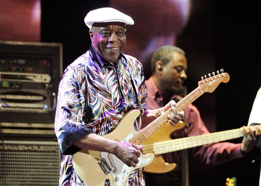 This April 12, 2013 file photo shows blues guitarist Buddy Guy performing at Eric Clapton's Crossroads Guitar Festival 2013 in New York. (Photo by Evan Agostini/Invision/AP, File)