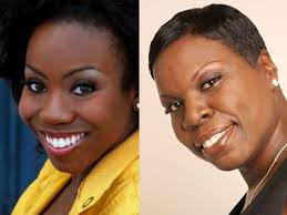 LaKendra Tookes (left) and Leslie Jones were recently hired as writers for NBC's Saturday Night Live