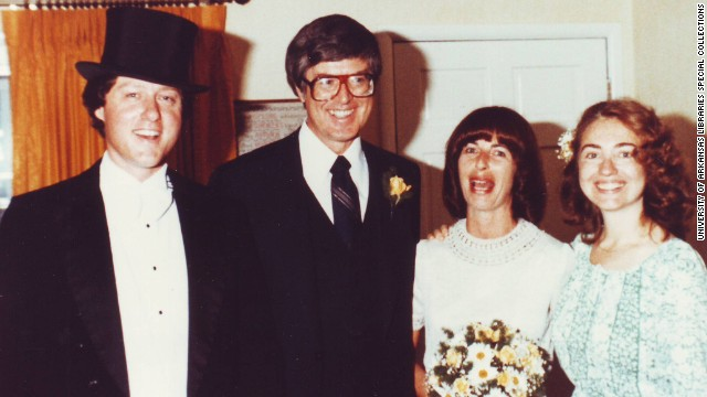 """Bill Clinton as Arkansas governor officiated Jim and Diane Blair's 1979 wedding and Hillary Clinton was """"best person."""" (Courtesy of CNN)"""