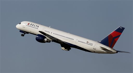 This photo taken Jan. 20, 2011, shows a Delta Airlines Boeing 757 taking off  in Tampa, Fla. (AP Photo/Chris O'Meara, File)