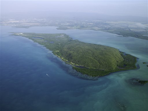 In this Jan. 21, 2014 photo, shows the uninhabited, mangrove-fringed Goat Islands in southern Jamaica. (AP Photo/Jamaica Environment Trust, Jeremy Francis)
