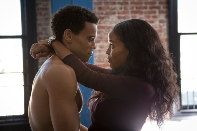 "Michael Ealy and Joy Bryant in the film ""About Last Night"""