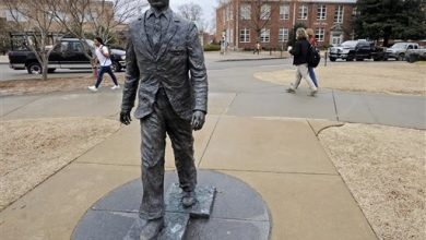 Photo of Ole Miss Student Charged for Defacing Meredith Statue