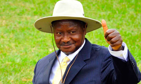 Uganda's president Yoweri Museveni said US troops would help gather intelligence against rebel group the Lord's Resistance Army. (AP)