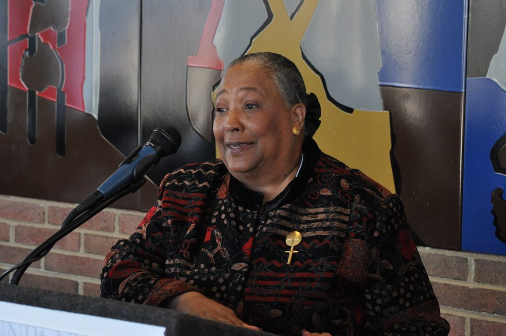 Sandra Blackwell, succeeding publisher of the Westchester County Press, founded by inductee M. Paul Redd (NNPA Photo by Roy Lewis).