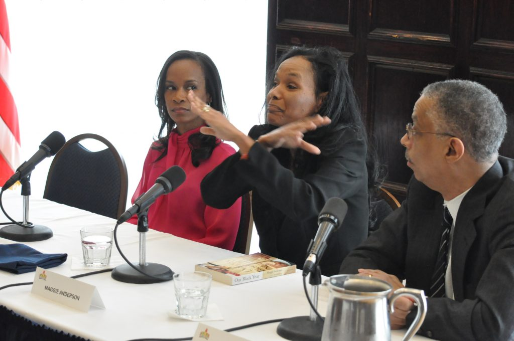 Maggie Anderson talks about buying exclusively Black. (NNPA Photo by Roy Lewis)