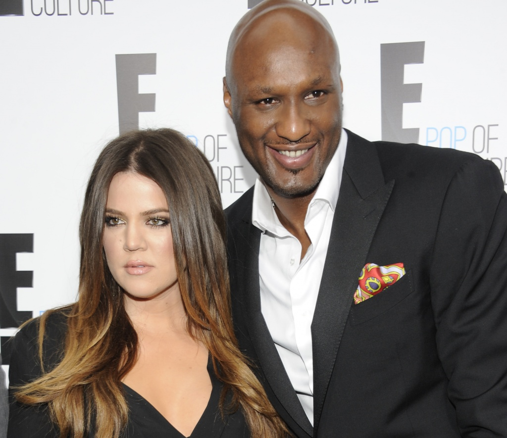 "In this April 30, 2012 file photo, Khloe Kardashian Odom and Lamar Odom from the show ""Keeping Up With The Kardashians"" attend an E! Network upfront event at Gotham Hall in New York. (AP Photo/Evan Agostini, File)"