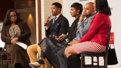 Photo of Fonzworth Bentley and Tai Beauchamp Inspired Charlotte Students During UNCF's Empower Me Tour Presented by Wells Fargo