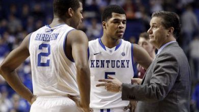 Photo of Aaron and Andrew Harrison Staying at Kentucky