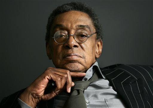 "This March 6, 2006 file photo shows Don Cornelius, the founder of ""Soul Train"" at his office in Los Angeles. Stage and film producer Matthew Weaver, who helped create ""Rock of Ages,"" has acquired the theatrical stage rights to the groundbreaking TV show and says he's hoping to turn it into a show that attracts die-hard Broadway fans and those who usually avoid Times Square. (AP Photo/Damian Dovarganes, File)"
