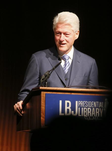 Former President Bill Clinton (Photo by Jack Plunkett/LBJ Foundation)