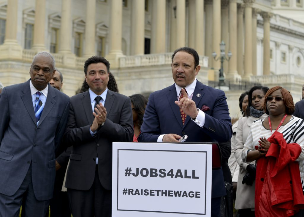 Marc Morial Raises pushes for higher minimum wage. (NNPA Photo by Freddie Allen)