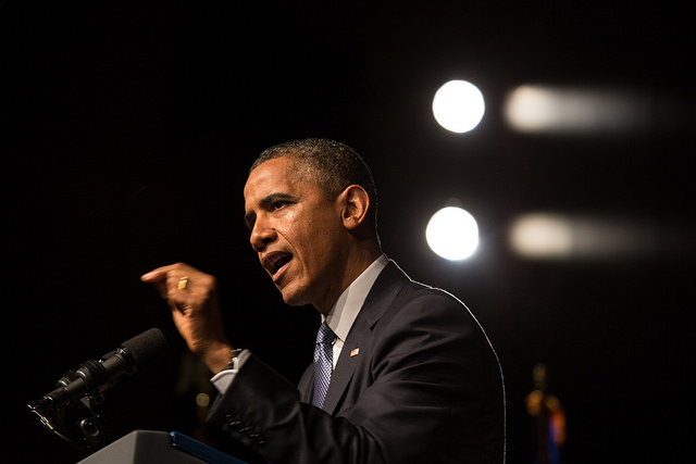 President Barack Obama at the Civil Rights Summit (Photo by David Hume Kennerly/LBJ Foundation)