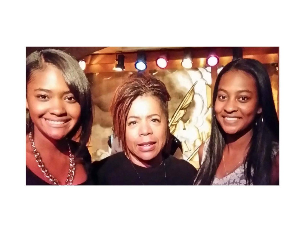 (L-R): Tyler, legendary songwriter/singer/producer Valerie Simpson and Morgan pose for the cameras in NYC at the world famous Sugar Bar Restaurant
