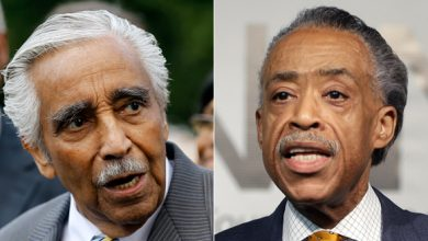 Photo of Rangel vs. Sharpton