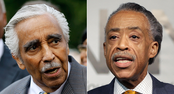 In the past, Rangel has sided with Democratic Party favorites over Sharpton. (AP Photos)