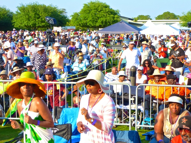 Fans enjoying the 2014 Seabreeze Jazz Festival (Photo by Dwight Brown)