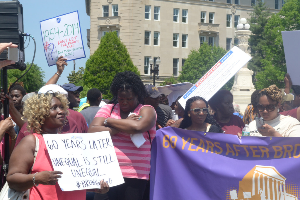 Brown v. Board of Education rally in Washington, DC (Jazelle Hunt/NNPA)