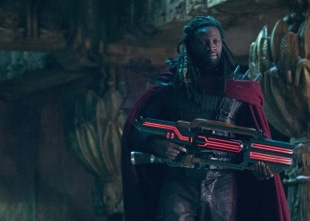 Omar Sy plays the mutant Bishop in the action/fantasy/film X-Men: Future Past