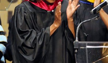 Photo of First Lady Tells Kansas Students to Fight Bias