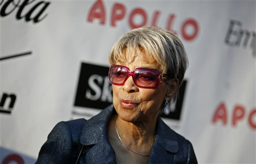 In this Monday, June 2, 2008, file photo, Actress Ruby Dee arrives for the Apollo Theater's annual Hall of Fame induction ceremony in New York. Dee, an acclaimed actor and civil rights activist whose versatile career spanned stage, radio television and film, died at age 91, on Thursday, June 11, 2014.  (AP Photo/Jason DeCrow, File)